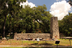 Sugar Mill Ruins. Yulee Sugar Mill Ruins Historic State Park in Homosassa, Florida Royalty Free Stock Images