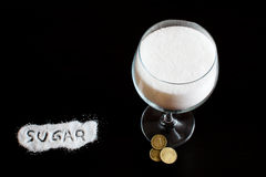 Sugar and money Stock Photos