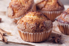 Sugar muffins with anise Royalty Free Stock Images