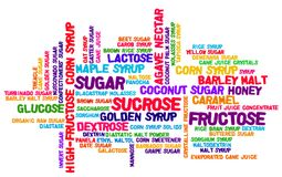 65 Sugar Names Word Cloud Illustration Fotografia Stock Libera da Diritti