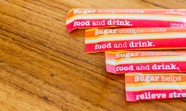 Sugar packet Royalty Free Stock Image