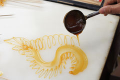 Sugar painting Stock Image