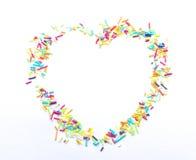 Sugar pearl heart Royalty Free Stock Photos