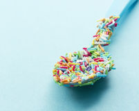 Sugar pearl spoon Royalty Free Stock Image
