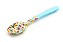 Sugar pearl spoon Stock Photos