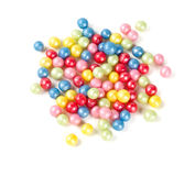 Sugar pearls. Isolated on white stock photos