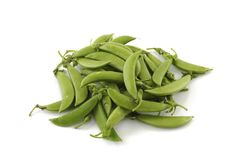 Sugar peas isolated on white background.  Royalty Free Stock Photography
