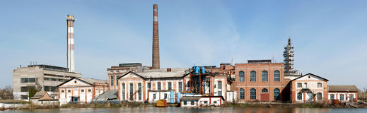 Sugar Plant. This plant placed nearby Kachanovka in Ukraine. It was build in IX century Royalty Free Stock Photography