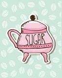 Sugar porcelain design Royalty Free Stock Photos