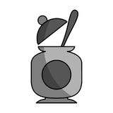 Sugar pot with spoon Stock Image