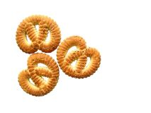 Sugar pretzels. Isolated sugar pretzels on white background Royalty Free Stock Images