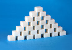 Sugar pyramid Stock Photo