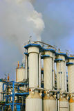 Sugar refinery. Smoke rising from industrial sugar refinery plant Stock Photography