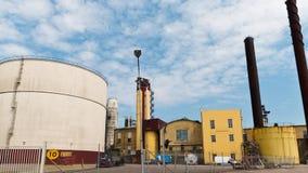 Sugar refinery in Ortofta, Sweden Time-lapse - 4k stock video