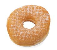 Sugar Ring Donut Isolated op een Witte Achtergrond stock afbeelding