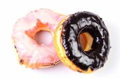 Sugar Ring Donut sur un fond blanc image libre de droits