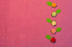 Sugar roses composition Royalty Free Stock Photos