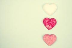 Sugar's hearts Royalty Free Stock Photo