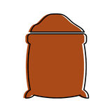 Sugar sack isolated icon Royalty Free Stock Images