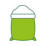 Sugar sack isolated icon Stock Images