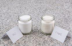 Sugar and Salt III Royalty Free Stock Image