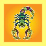 Sugar Scorpio coloreado Imagen de archivo