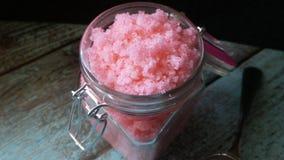 Sugar Scrub hecho en casa fotos de archivo