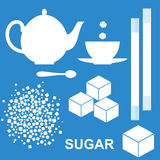Sugar. Set. Isolated objects. Vector illustration (EPS 10 Stock Photos