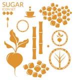 Sugar. Set Stock Photo
