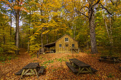 Sugar shack in fall Stock Photo