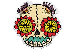 Sugar skull Stock Images