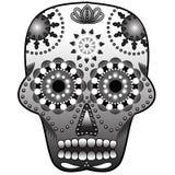 Sugar Skull. Black and white Royalty Free Illustration