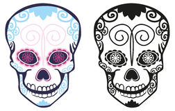 Sugar skull. Figure sugar skulls with patterns Royalty Free Stock Photo