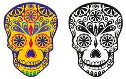 Sugar skull. Figure sugar skulls with patterns Royalty Free Stock Photography