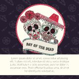 Sugar skull calavera Catrina vector illustration for Day of the Dead Stock Image