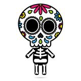 Sugar skull character isolated day of the dead concept Stock Images