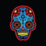 Sugar skull colored version Stock Photos