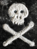 Sugar skull and crossbones. Royalty Free Stock Image