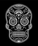 Sugar Skull dag av dödaen royaltyfri illustrationer