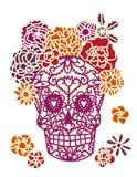 Sugar Skull Day av Döden Diameter de los Muertos royaltyfri illustrationer