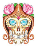 Sugar Skull day of the dead. Royalty Free Stock Photography