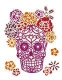 Sugar Skull Day Dead Dia de Los Muertos Lizenzfreie Stockbilder