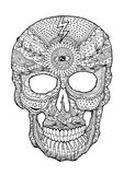 Sugar skull day of the dead human head vector hand drawn Stock Photos
