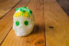 sugar skull for day of the dead stock photography