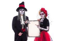 Sugar Skull e barão fotografia de stock