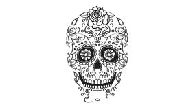 Sugar skull elements animation stock video footage