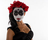 Sugar skull and flowers Royalty Free Stock Photos