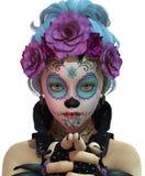 Sugar Skull Girl pequeno, 3d CG CA Imagens de Stock Royalty Free