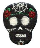 Sugar skull. Handmade naive Day of the Dead symbol Royalty Free Stock Photo