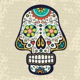 Sugar skull. Illustration of sugar skull on grunge background Royalty Free Stock Photo
